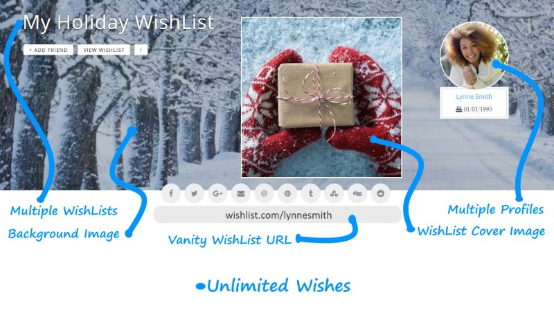 Create stunning WishLists